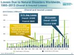 losses due to natural disasters worldwide 1980 2013 overall insured losses