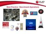 best practice benchmark operations