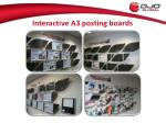 interactive a3 posting boards