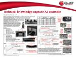 technical knowledge capture a3 example