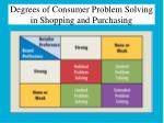 degrees of consumer problem solving in shopping and purchasing