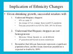 implication of ethnicity changes