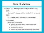 state of marriage