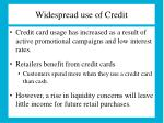 widespread use of credit