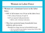 women in labor force