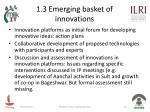 1 3 emerging basket of innovations