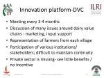 innovation platform dvc