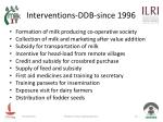 interventions ddb since 1996