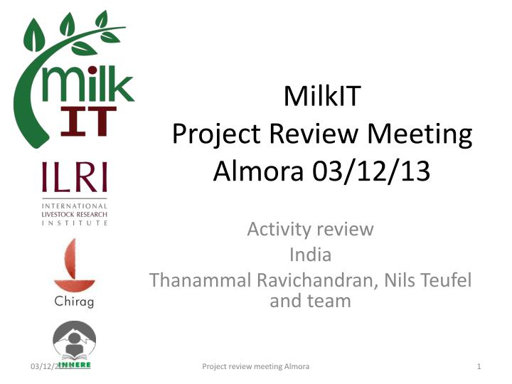 milkit project review meeting almora 03 12 13 n.