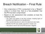 breach notification final rule1