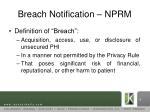 breach notification nprm