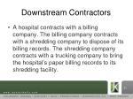 downstream contractors