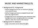 music and marketing 2 3