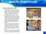 specific experiences1