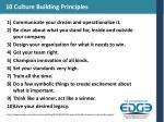 10 culture building principles
