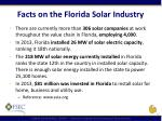 facts on the florida solar industry