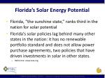 florida s solar energy potential