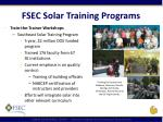 fsec solar training programs
