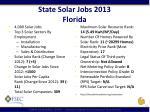 state solar jobs 2013 florida