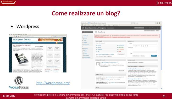 Come realizzare un blog?