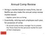 annual comp review