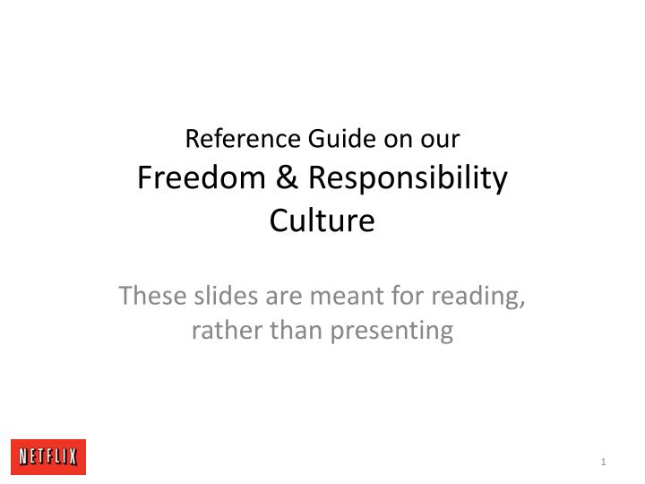 reference guide on our freedom responsibility culture n.