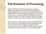 the evolution of purchasing1