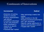 continuum of innovations1