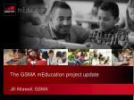 the gsma meducation project update