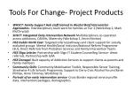 tools for change project products1