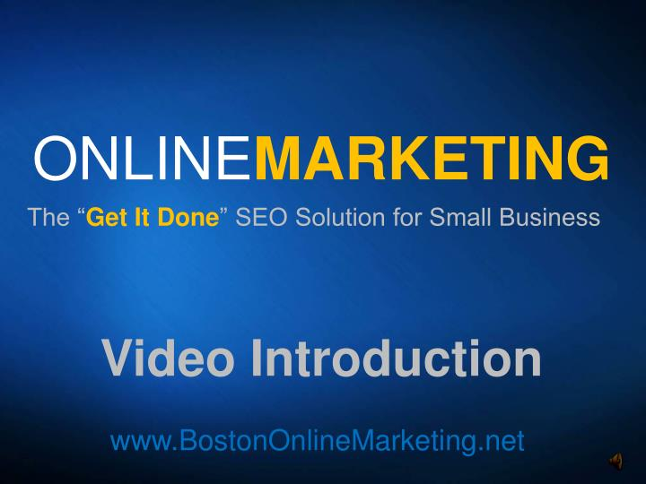 online marketing n.