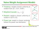 na ve weight assignment models