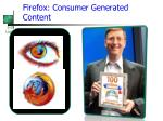 firefox consumer generated content