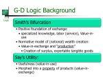 g d logic background