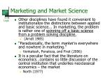 marketing and market science