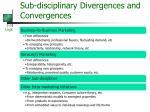 sub disciplinary divergences and convergences