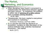 the market marketing and economics