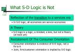 what s d logic is not