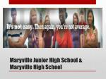 maryville junior high school maryville high school