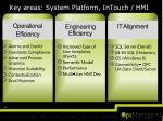 key areas system platform intouch hmi