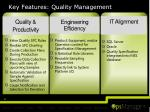 key features quality management