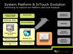 system platform intouch evolution continuing to improve our platform and core products