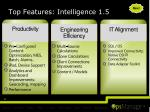 top features intelligence 1 5