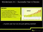 wonderware 1 successful year in review