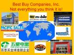 best buy companies inc not everything you think it is