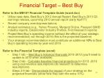 financial target best buy