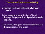 the roles of business marketing1