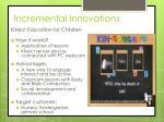 incremental innovations1