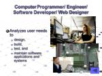computer programmer engineer software developer web designer
