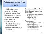 alternative and new media